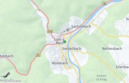 Stadtplan Lohr am Main