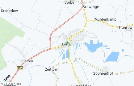 Stadtplan Loitz