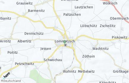 Stadtplan Lommatzsch