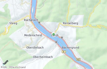 Stadtplan Lorch (Rheingau)