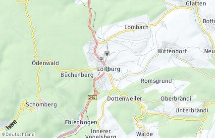 Stadtplan Loßburg