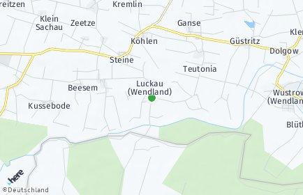 Stadtplan Luckau (Wendland)