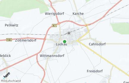 Stadtplan Luckau (Niederlausitz)