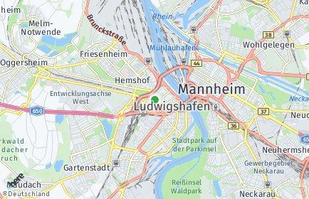 Stadtplan Ludwigshafen OT Mundenheim