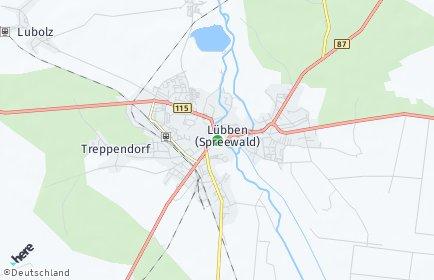 Stadtplan Lübben (Spreewald)