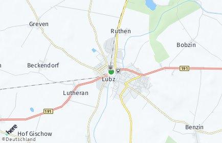 Stadtplan Lübz
