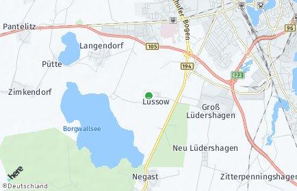 Stadtplan Lüssow bei Stralsund