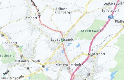 Stadtplan Lugau/Erzgebirge