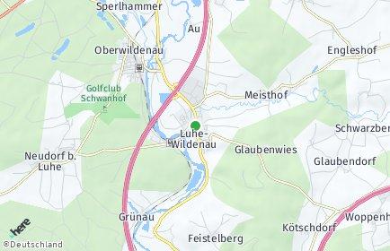 Stadtplan Luhe-Wildenau OT Grünau, Markt