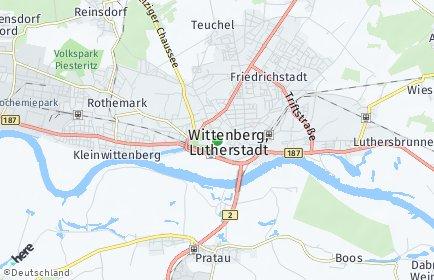 Stadtplan Lutherstadt  Wittenberg OT Trajuhn