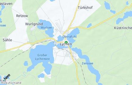 Stadtplan Lychen