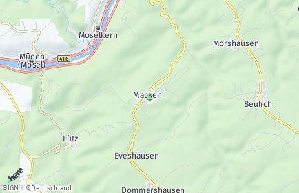 Stadtplan Macken