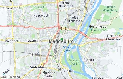 Stadtplan Magdeburg OT Alt Olvenstedt