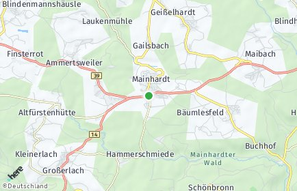 Stadtplan Mainhardt