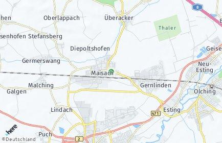 Stadtplan Maisach