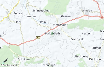 Stadtplan Maitenbeth