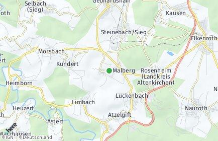 Stadtplan Malberg (Westerwald)
