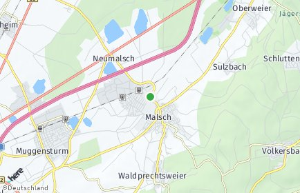 Stadtplan Malsch (Kreis Karlsruhe) OT Neumalsch