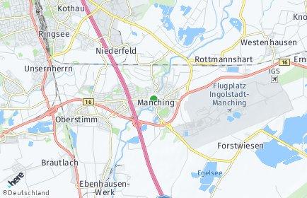 Stadtplan Manching