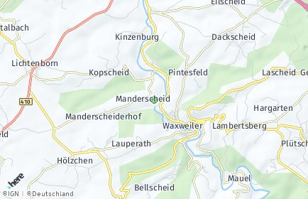 Stadtplan Manderscheid bei Waxweiler