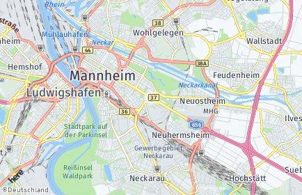 Stadtplan Mannheim OT Rheinau