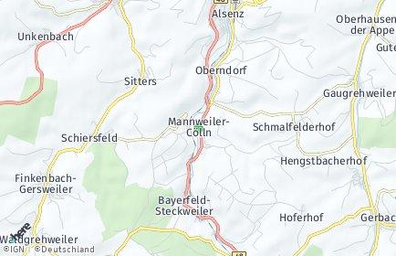 Stadtplan Mannweiler-Cölln