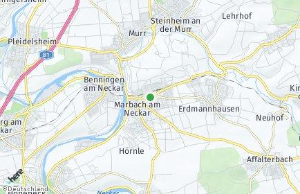 Stadtplan Marbach am Neckar