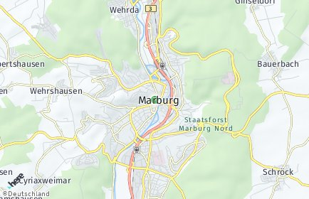 Stadtplan Marburg OT Neuhöfe