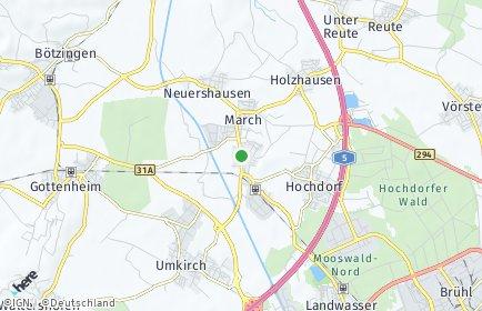 Stadtplan March (Breisgau)