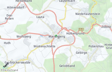 Stadtplan Marienberg
