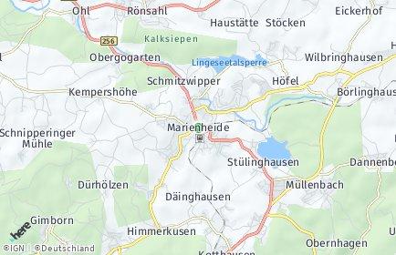 Stadtplan Marienheide