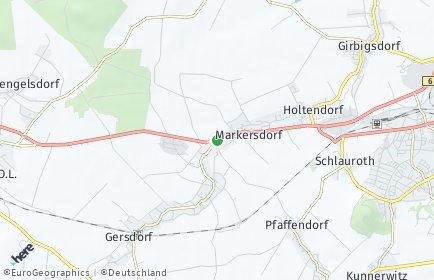 Stadtplan Markersdorf (Sachsen) OT Deutsch-Paulsdorf