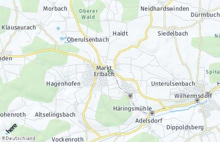 Stadtplan Markt Erlbach