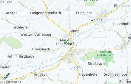 Stadtplan Markt Indersdorf