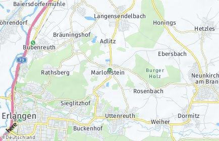 Stadtplan Marloffstein