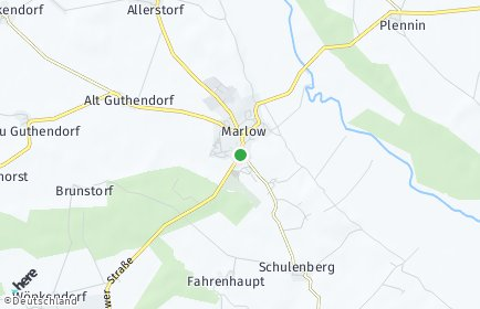 Stadtplan Marlow