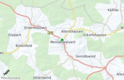Stadtplan Maroldsweisach