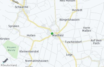 Stadtplan Martfeld