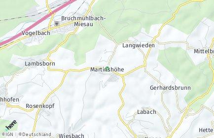 Stadtplan Martinshöhe