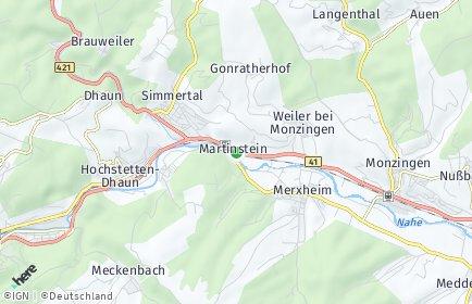 Stadtplan Martinstein