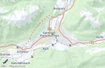 Stadtplan Garmisch-Partenkirchen