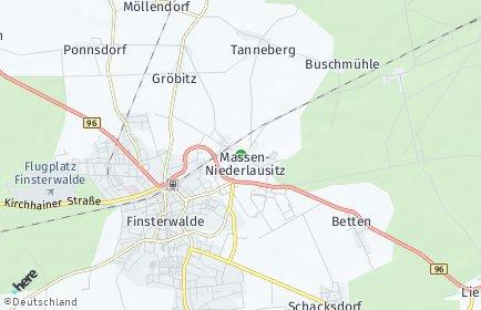 Stadtplan Massen-Niederlausitz