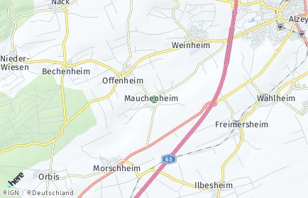 Stadtplan Mauchenheim