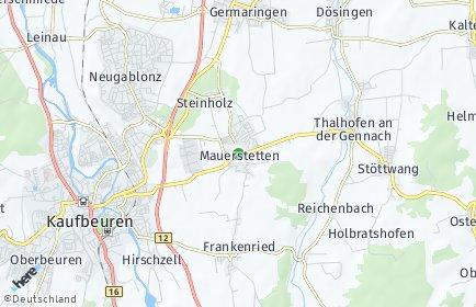 Stadtplan Mauerstetten