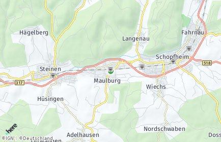 Stadtplan Maulburg