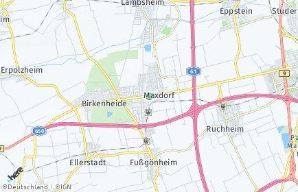Stadtplan Maxdorf