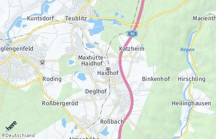 Stadtplan Maxhütte-Haidhof