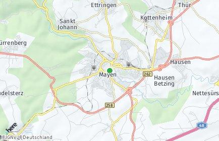 Stadtplan Mayen