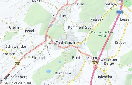 Stadtplan Mechernich