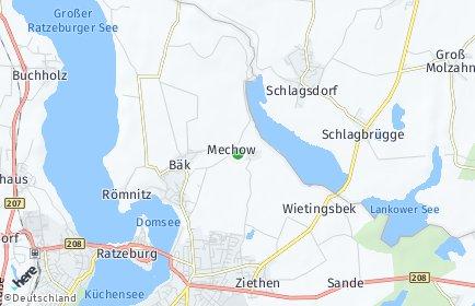 Stadtplan Mechow